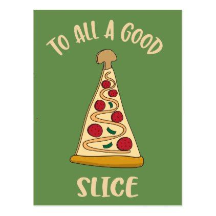 Funny Pizza Lover's Christmas Tree Holiday Postcard | Zazzle.com