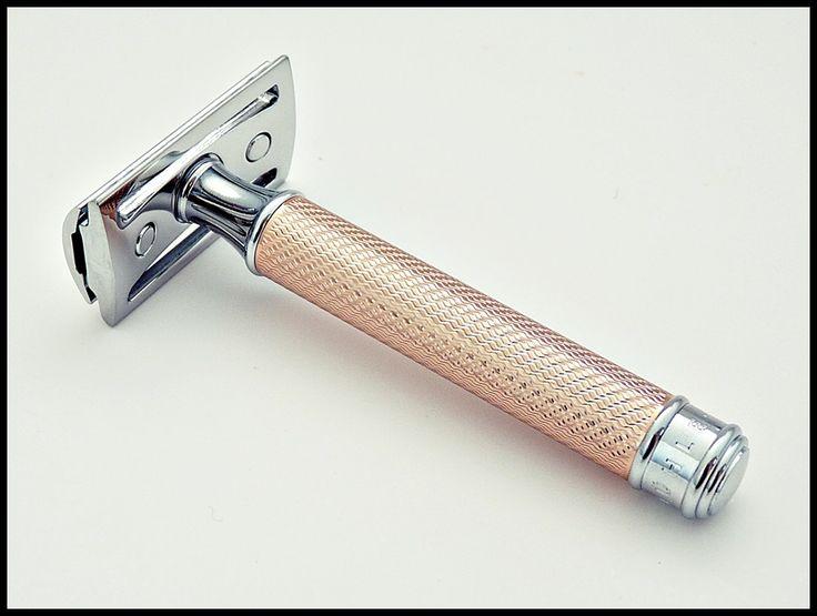 Muhle R89 Rosegold safety razor.