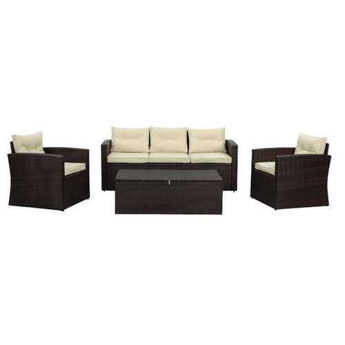 Found it at Wayfair - Rio 4 Piece Deep Seating Group with Cushions