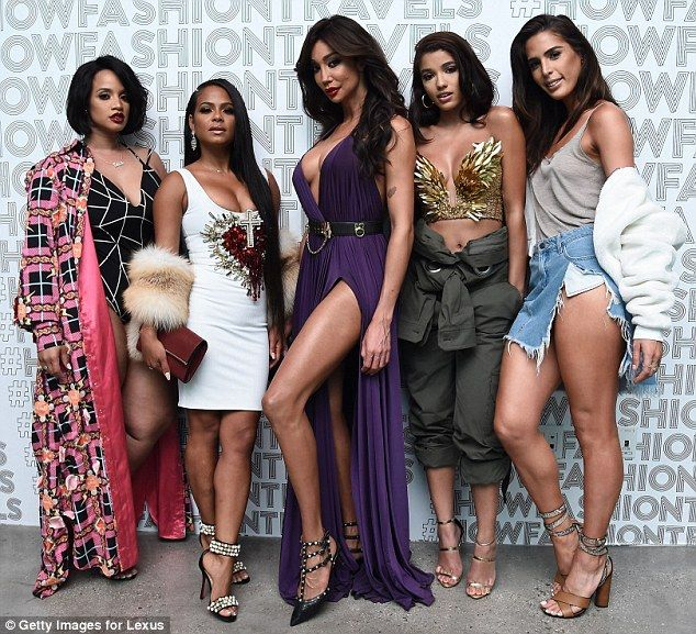 Squad goals: (L-R) Dascha Polanco, Christina Milian, Yasmine Petty, Yovanna Ventura and Carmen Carrera all posed together inside the event