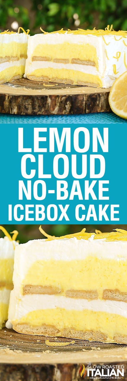 Lemon Cloud No-Bake Ice Box Cake is a fun twist on a classic recipe. This cake is light, bright and utterly luscious. It is bursting with lemon flavor and is prepped in just 25 minutes. With layer upon layer of scrumptious flavors, this is your go to cake this summer. Perfection without ever turning the oven on.