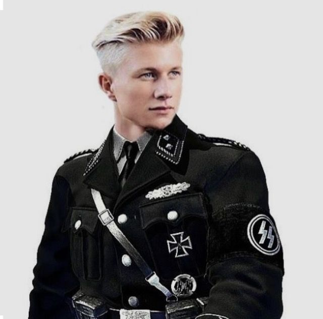 Portrait of War, Germany. The ideal Aryan.