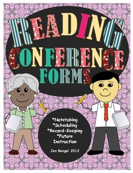 Reading conference forms for notetaking, scheduling, record-keeping, and planning future instruction!