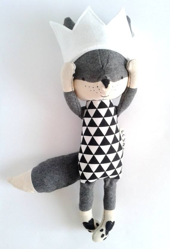 THEO the fox. made-to-order. fox with a crown. wool fox. eco fox. gift for…