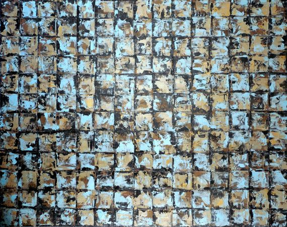XXL Large Wall Art Modern Mosaic Tile Art by HollyAndersonFineArt