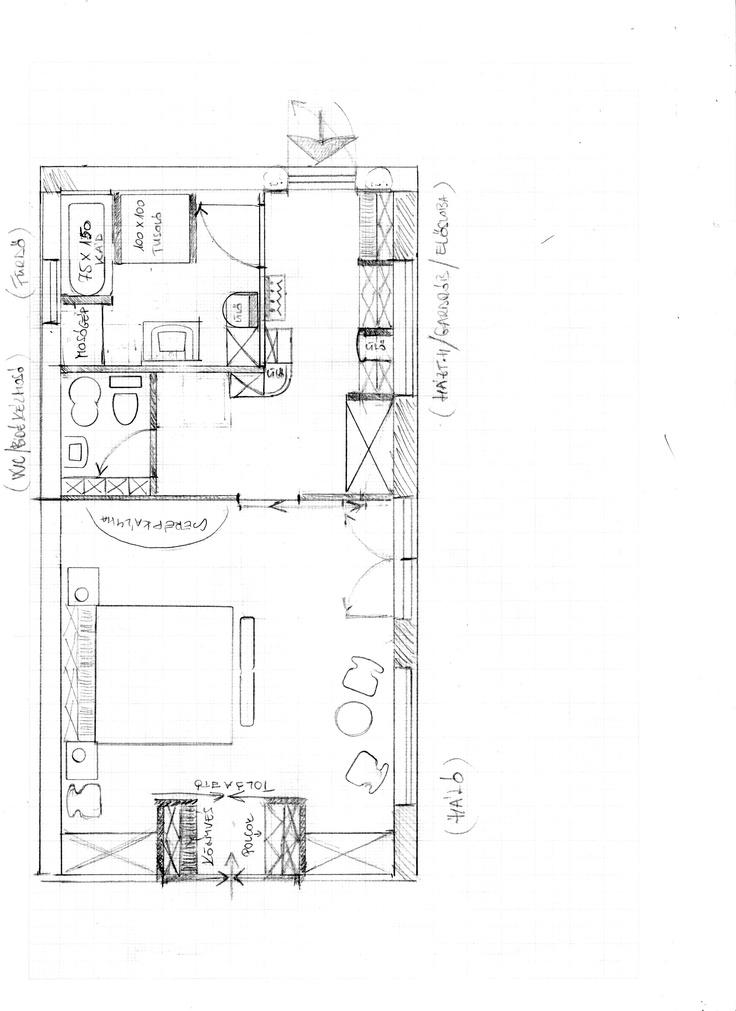 háló-gardrób-előszoba/dolgozó-fürdő