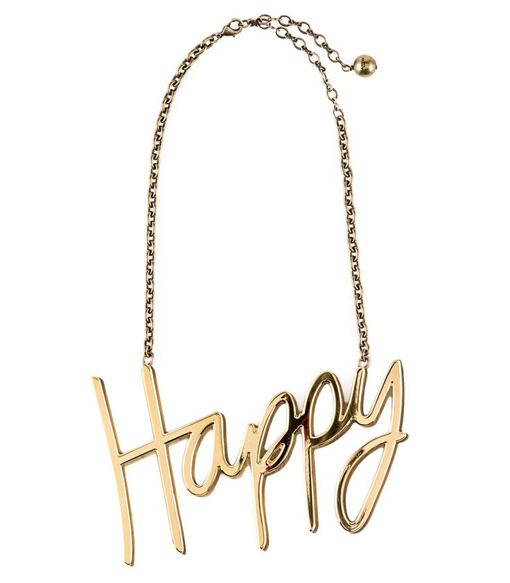 Fall Jewelry Guide at #ShopBAZAAR: Whimsical Jewelry – Lanvin Happy Gold Statement Necklace
