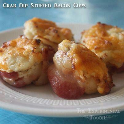 Bacon wrapped crab dip | Food | Pinterest