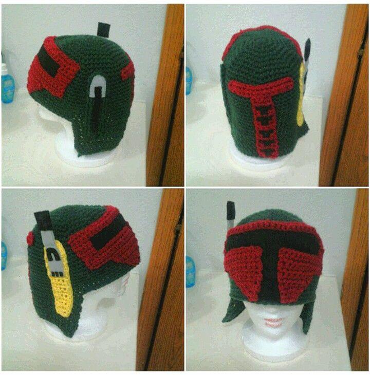 My handmade Boba Fett beanie...love love love! (I made this! #KnottyGalCrochet) :) :)