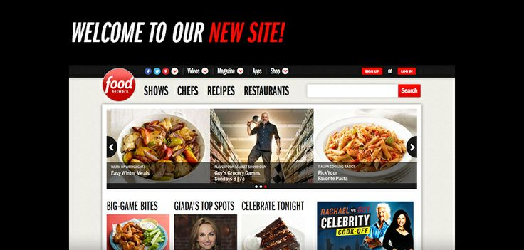 FoodNetwork.com has a brand-new look and experience starting today!: Food Network,  Internet Site, Foodnetworkcom,  Website, Foodnetwork Com, Web Site