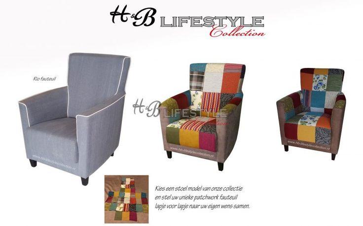 Patchwork fauteuil - HB Lifestyle Collection Model: Rio #patchwork #kleurenstoel #eigenontwerp #zitmeubel #stoelsamenstellen #quilt #interieurspecialist #kleurrijkestoel #kleurenfauteuil #kleurrijkebanken #banksamenstellen #kleurenbank