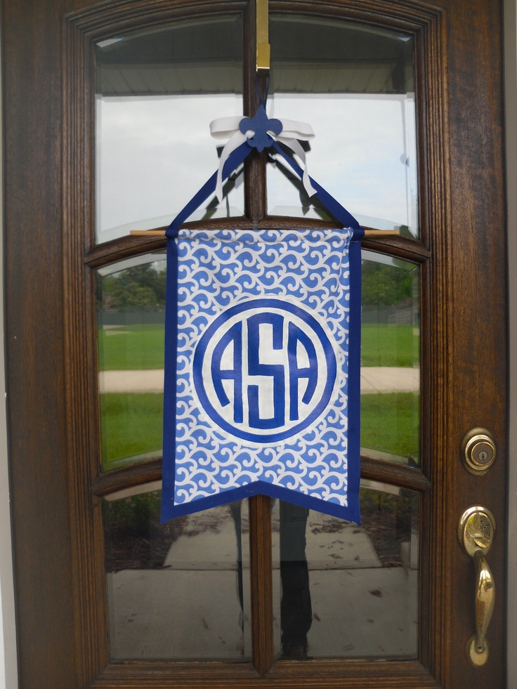 monogram banner for the front door & 56 best DECOR | Door Hangers u0026 Banners images on Pinterest | Door ...