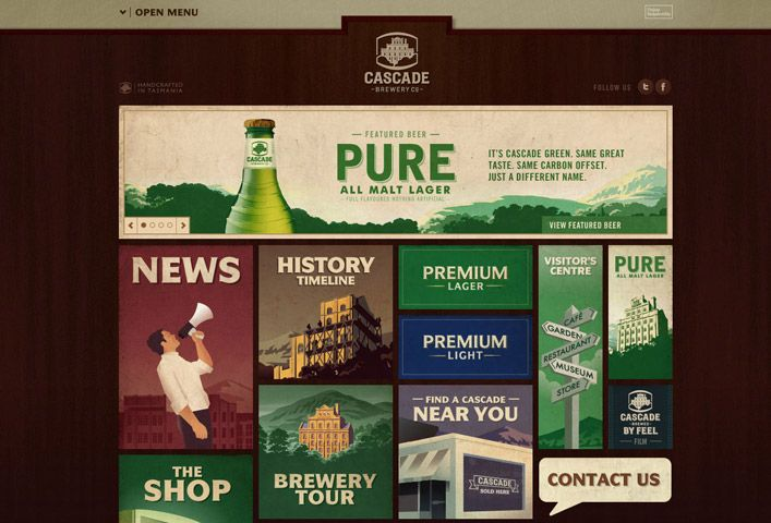 Cascade Brewery website
