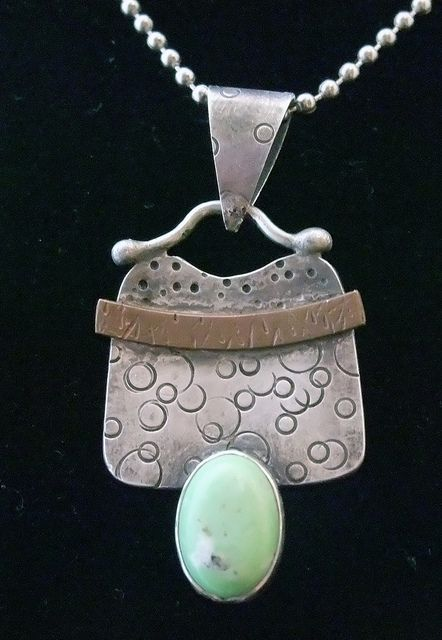 Pendant with Turquoise Stone by k.webb, via Flickr