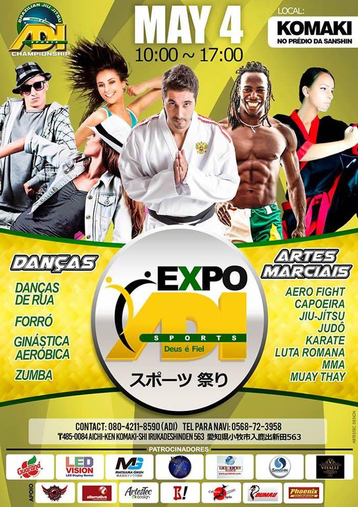 Evento com exposição de produtos e serviços voltados ao esporte, palestras e apresentações de danças e artes marciais!