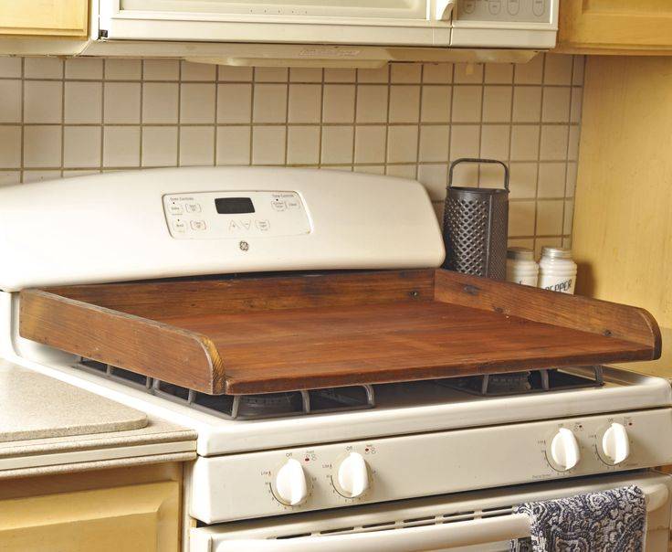 This recycled barnwood stovetop cover is a great way to provide additional space in your kitchen. Order it at www.countrystoreofgeneva.com. See more country products in the September 2014 issue of Country Sampler: https://www.samplermagazines.com/detail.html?prod_id=78&cat_id=8