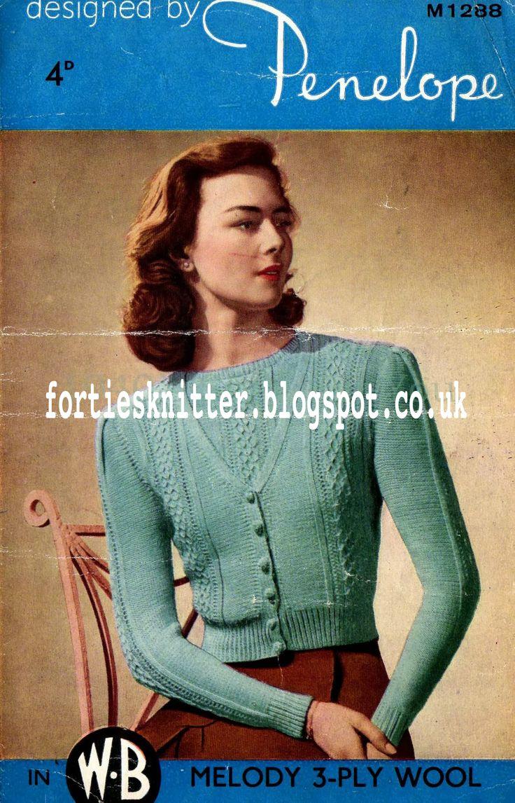 28 best KNITTING -- vintage images on Pinterest | Vintage knitting ...