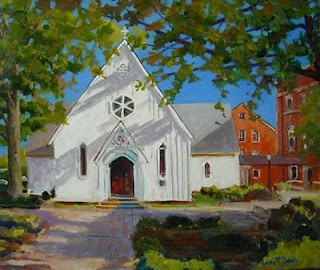 Saint Mary's Chapel by North Carolina Artist, Larry Dean available at ArtSourse in North Hills!