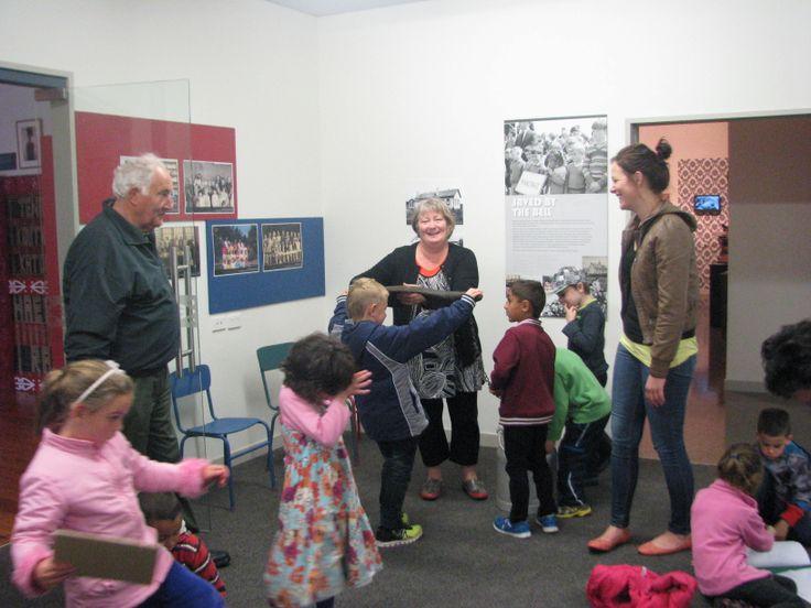 Educator Rob Groat visited Matapu School; everyone had a great time.