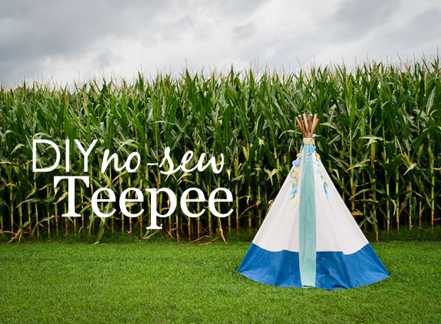 What better way to spark a child's imagination than with a DIY no-sew teepee! Haley from Grey House Harbor shares the simple steps to make your own.