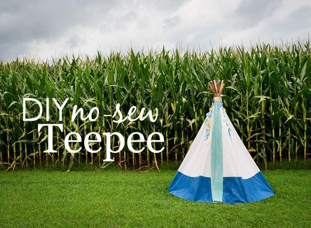 DIY: No-Sew Teepee