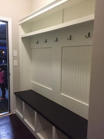 Entryway Locker Dropzone For Mudroom 4 Cubby Flat Back
