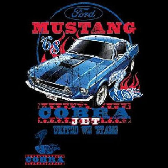 1968 Mustang Cobra Jet  Car Mens T Shirt by OldSaltSailorTees