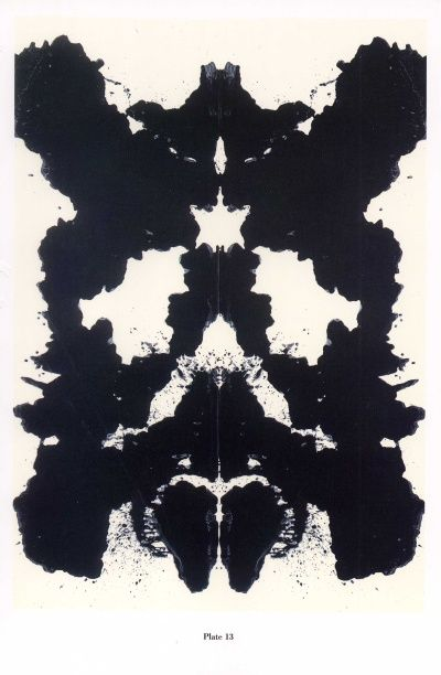 andy warhol. rorschach plate #13.