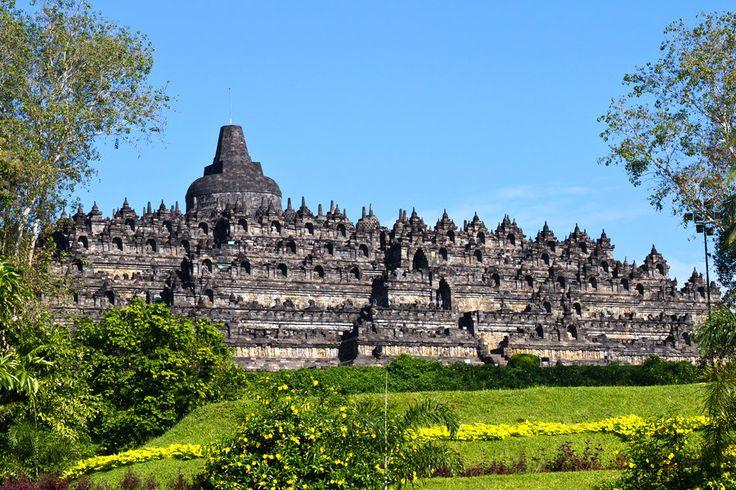 Borobudur on Java is the world's largest Buddhist temple