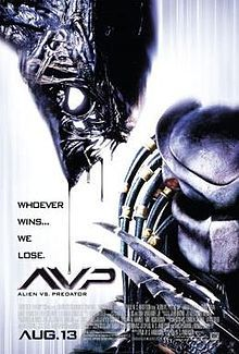 #1066. AVP: Alien vs. Predator, February, 2017. In 2004, archaeologists assembled by billionaire Charles Bishop Weyland travel near Antarctica to investigate a mysterious heat signal. His group, led by guide Alexa Woods discovers a pyramid below the surface of the ice. Hieroglyphs and sculptures reveal that the pyramid is a hunting ground for young Predators who kill Aliens as a rite of passage. Caught in the middle of a battle, they attempt to prevent the Aliens from reaching the surface.