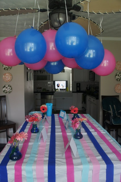Gender Reveal Party Decorate With Pink And Blue Have