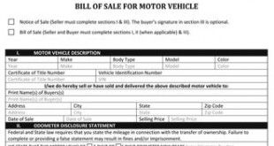 Automotive Bill of Sale