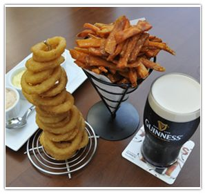 Pub food at The Coach and Horses, London.