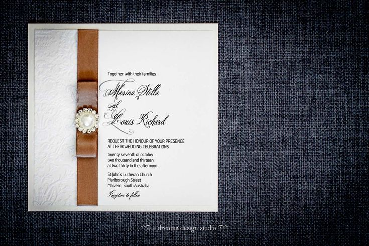 'Enchantment' wedding invitation- for bling lovers
