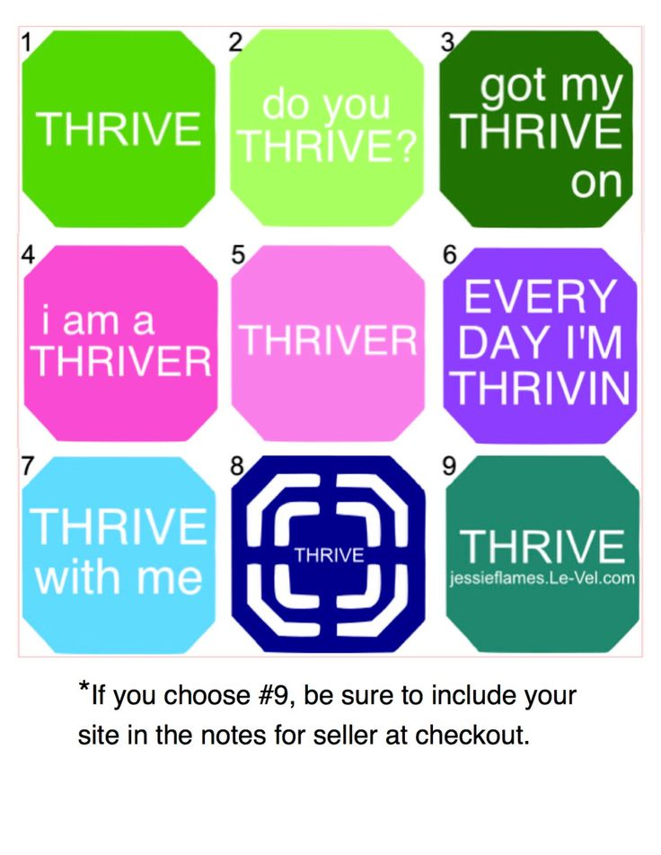Thrive Patch Decal for Car or Water Bottle (Sticks almost anywhere) by SpecialEtch on Etsy https://www.etsy.com/listing/255635562/thrive-patch-decal-for-car-or-water