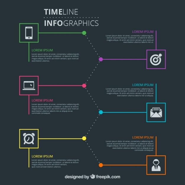 Modern and elegant timeline infographic Free Vector Mais