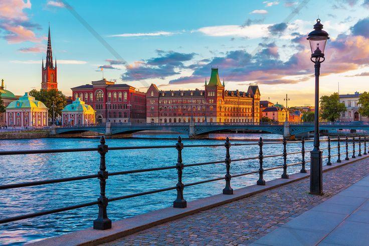 Stockholm - Old Town - Fototapeter & Tapeter - Photowall