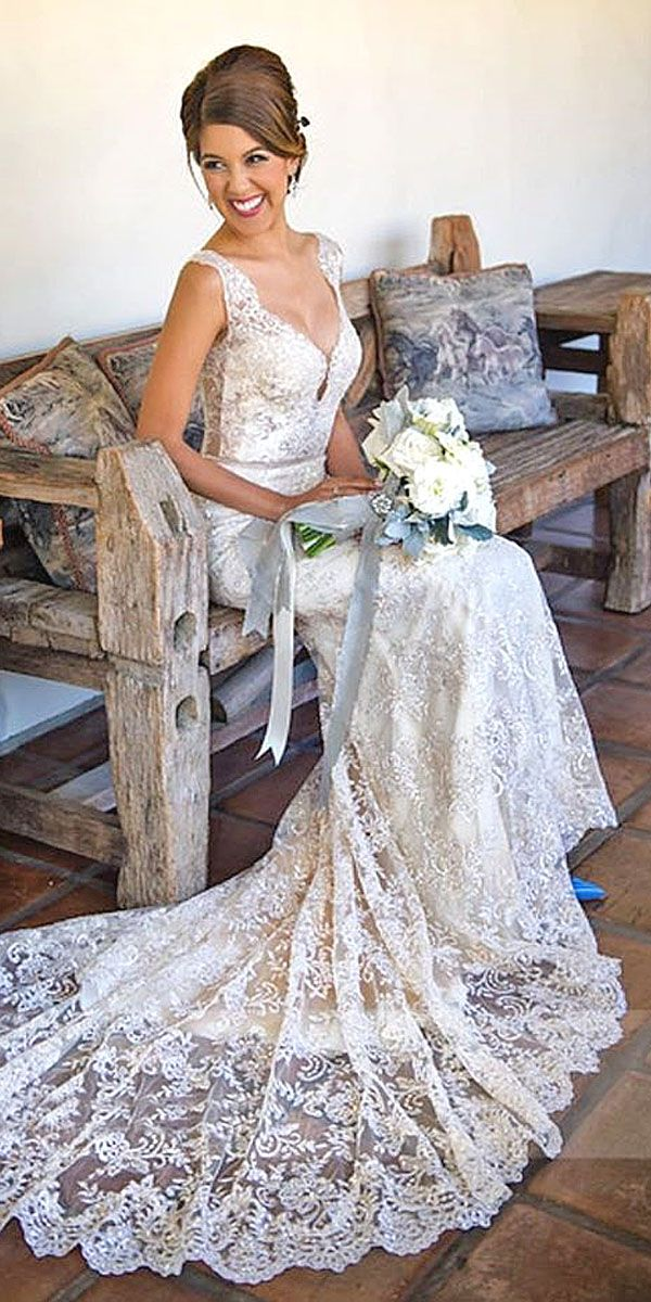 Real Brides In Ines Di Santo Wedding Dresses ❤ See more: http://www.weddingforward.com/ines-di-santo-wedding-dresses/ #weddings