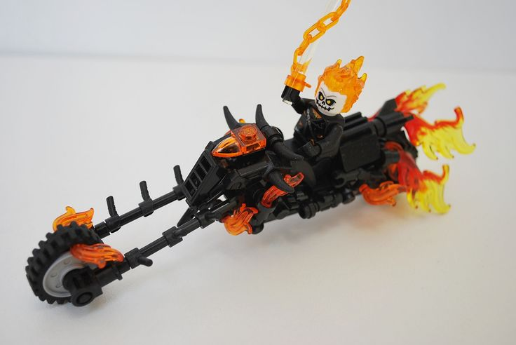 https://flic.kr/p/SBuPrQ   Spirit of Vengeance   A Ghost Rider Vig  I'm a big Marvel fan but haven't really read much that's involved Ghost Rider, so surprisingly I'm not a huge fan. but that said he's still awesome!  After buying the set with him and the Hobgoblin I got inspired to redo the Bike, and this was born.    I've been very inspired to build small marvel vigs around this size, so expect more (I already have one on it's way) I also have a bigger diorama that's about 70% complete and…