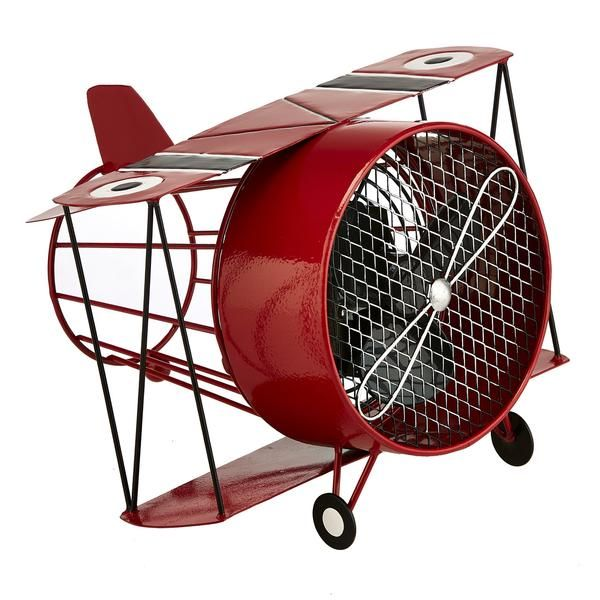 Art Fans - The Wright Brothers would be proud! We've combined style and functionality with our Red Biplane Figurine Fan. Perfect for anyone who loves vintage aviation, this red-hot biplane will evoke smiles even before people realize it doubles as a fan.