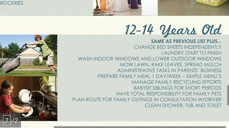 Chores for 1214 year olds Chores, Cleaning household