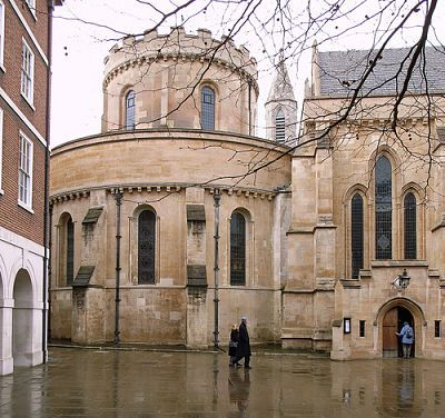 Temple Church, London, built in the 12th century by the Knights Templar