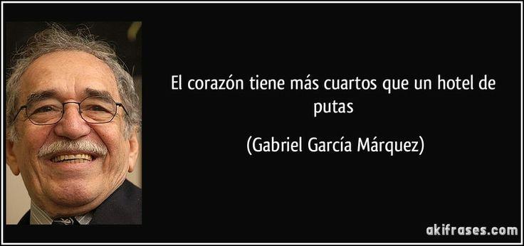 Garcia Marquez sabeee