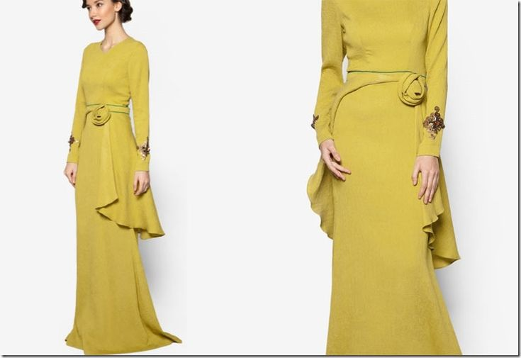 Jovian Mandagie's Raya 2016 Collection Moves Beyond Peplums / lime-green-3d-rose-embellished-dress