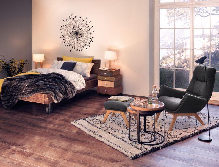 Micasa Schlafzimmer Bett CORELLE und Kommode BETHANY