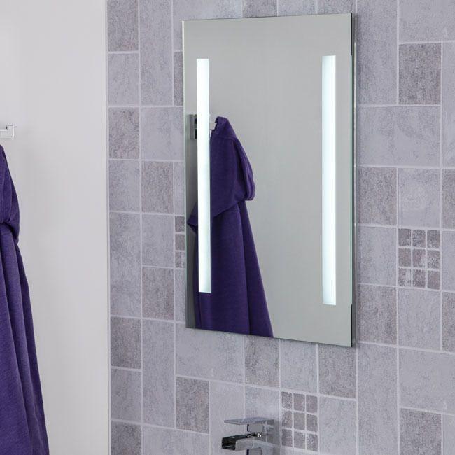 Croydex Thornton Led Illuminated Mirror 600 X 400mm Battery Operated Mm73110e Bathroom Mirror Led Mirror Bathroom Illuminated Mirrors