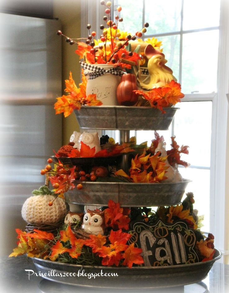 Priscillas: The Fall Galvanized Tiered Tray