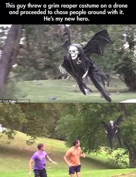 Grim Reaper drone. Great idea! :P