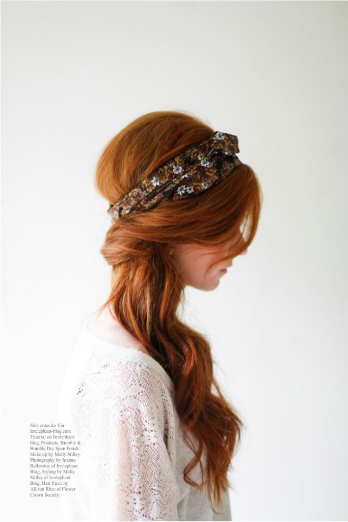 Flower Crown Society Head wrap tutorial Via Irrelephant-blog.com