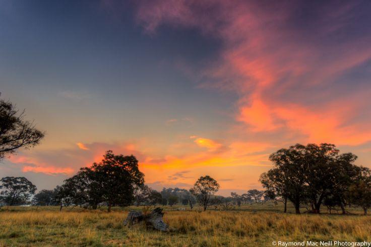 Sunset over Lanyon Homestead